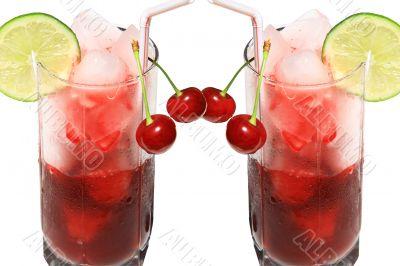 Cherry juice with ice