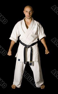 Karateka men fighting