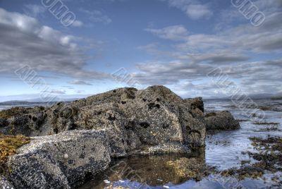 Skye island sea landscape