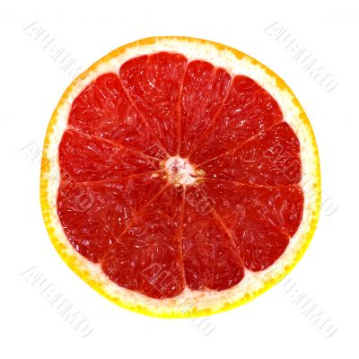 Grapefruit. Isolated, on a white background