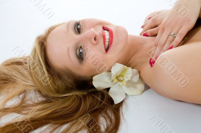 Attractive woman getting spa treatmen