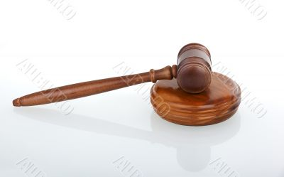 gavel with small reflection in front