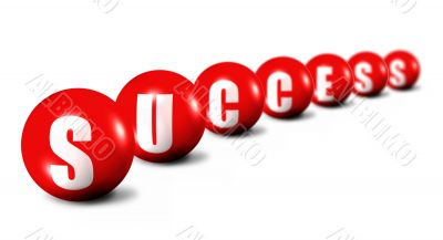Success word made of spheres