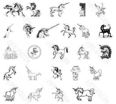 icons horses unicorns