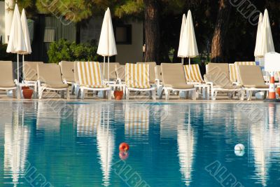 Swimming pool in hotel resort