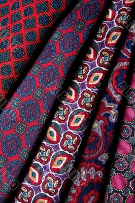 A pack of five different ties
