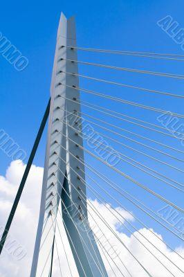 Erasmus Bridge. Pilons