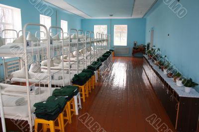 Room of a colony for minor criminals