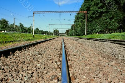 Iron railroad rail