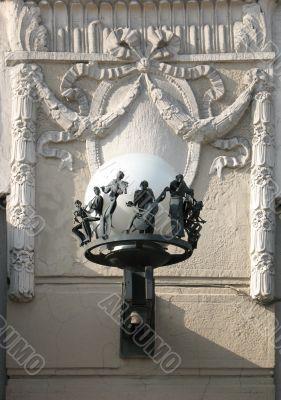 Lantern sheet music shop on Nevsky Prospekt