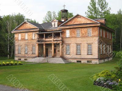 old school in Val Jalbert village, Quebec