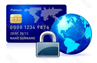 Abstract illustration representing secure online payment.