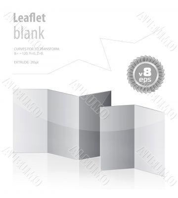 folded blank menu for your design