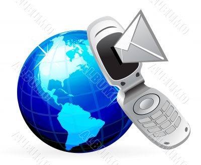 Send and Receive SMS Messages. Communication concept. Mobile pho