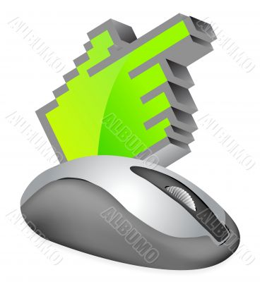 Computer Mouse with cursor