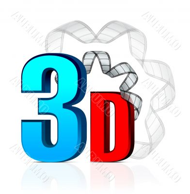 3D Cinema with film strip