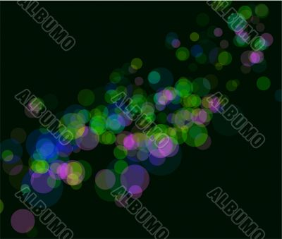 Multi color bokeh lights background