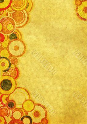 Grunge wallpaper with circles