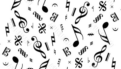 Vector music note seamless