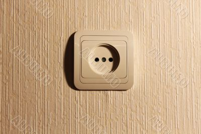 Wall plug with a sharp shade