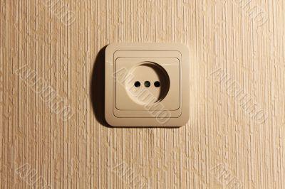 Wall plug with a sharp shade
