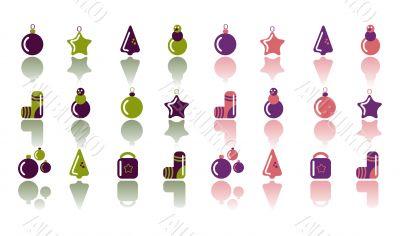 Navidad christmas icons set,shiny labels,fake paper tags