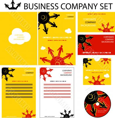 Corporate human presentation, report template. Cogs backgrounds,