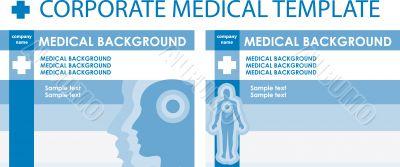Corporate medical presentation, report template. Human backgroun