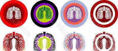 Lung Anatomy, human medical illustration, emblem, scheme, Illnes