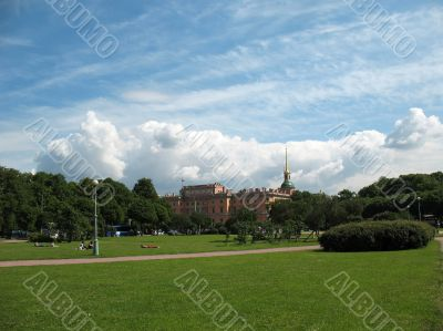 Campus Martius, view of the Mikhailovsky Castle