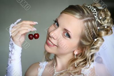 Bride with sweet berry