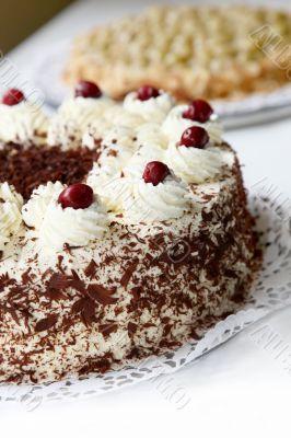 Cherry cake with chocolate - cake -