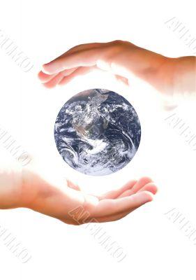 Arm hold earth