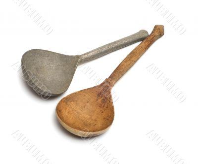 Antique spoons.