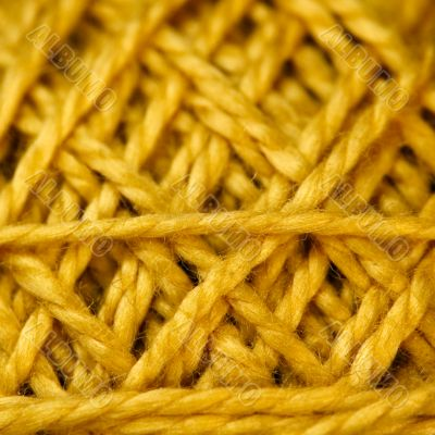 Yellow Cord ball closeup.