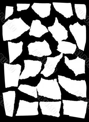 Vector mask looks like tattered paper