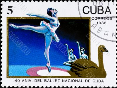postage stamp celebration cuban ballet anniversary