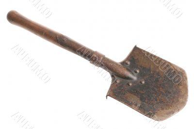 Military shovel. Russia. Eastern Europe.