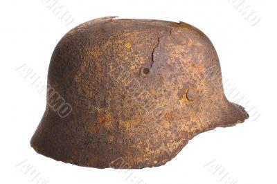 German rusty military helmet
