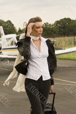 a young businesswomen at the airport
