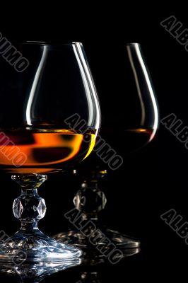 Brandy and glass