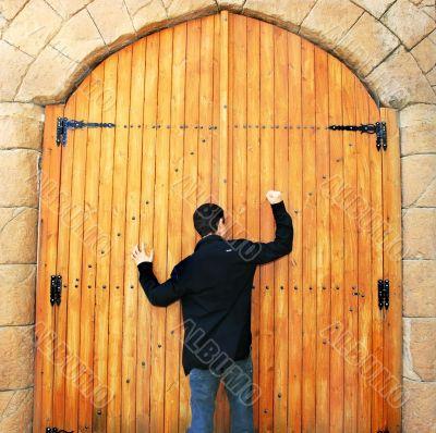 Teen knocking door