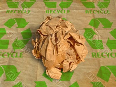 Crinkled papyrus ball