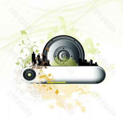 Music grunge colorful background