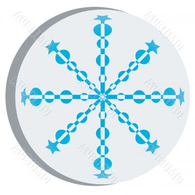 Snow flake sticker 3