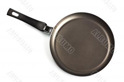 black frying pan top view