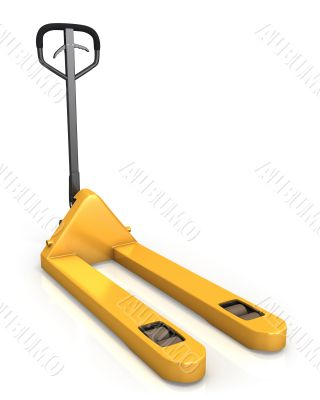 Pallet truck in perspective, front view