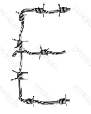 Barbed wire alphabet, E