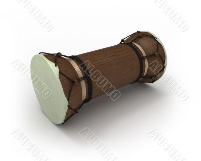 African talking drum in perspective