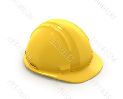 Yellow plastic helmet or hard hat